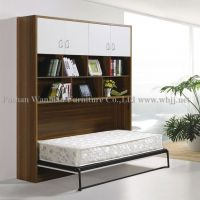 GS5002 side fold wall bed with cabinet / hidden bed/ murphy bed/ library bed