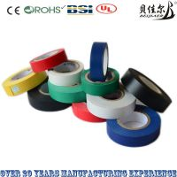 multicolored PVC insulation electrical tape insulation tapes 0.13mm*18mm*8y flame-retardant with RoHS, CE, UL, BSI certification