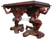Carved furniture, carved tables, carved painting, carved icons