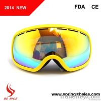 Double lens, three layer foam snow goggles with fashion design