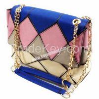Color Handbag With Chain