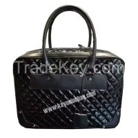 Diamond Quilted Checkered Briefcase
