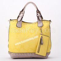 Shoulder Rivet Studded Handbag Stitching Bag