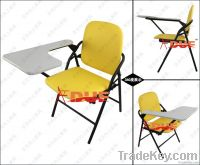 2013 new products plastic folding lecture chair with oversized tablet