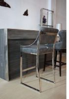 upholstery bar stool with stainless steel frame