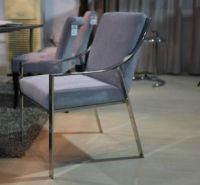 upholstery sofa with stainless steel frame