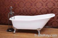 Single rising cast iron bathtub