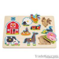 Wooden Animals Peg Puzzle