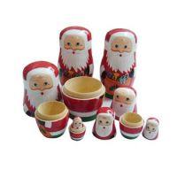 Wooden Nesting Santa Family Game