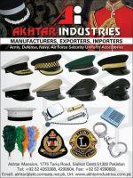 Military uniform accessories.