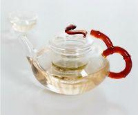 fancy handmade glass  teapot