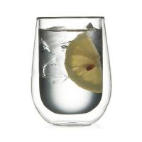 wholesale heat resistant double wall glass cup