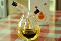 new design glass oil cruet