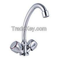 Double Handle Kitchen Zinc Faucet