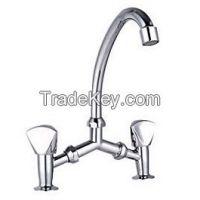 New Design Dual Handle Kitchen Zinc Faucet