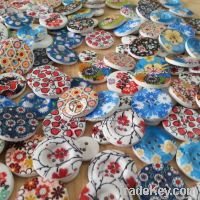 Color button wood for crafts