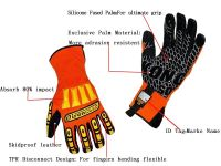 Super Waterproof Skidproof knuckle protection working gloves construction safety gloves mining safety gloves