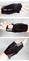 Black Half FINGER Bike Race Bicycle Cycling Gloves
