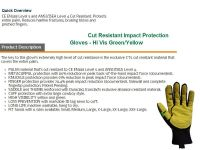 Cut Resistant hand gloves Puncture Resistant Safety gloves Cut resistant work glove