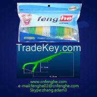 Y shape dental floss pick