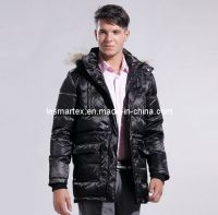 PU coated fur collar down jacket