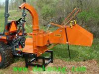 WC-8M mechanical auto-feeding wood chipper