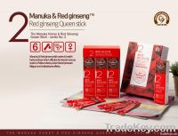 Manuka Honey blended with Korean Red Ginseng - Queen stick