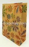 2015 Hot Sell Kraft Paper Bag with Handles use in Party and Shopping Centre