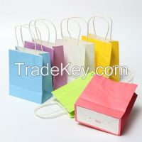 2015 Hot Sell Grocery Paper Bag with Handles use in Party and Shopping Centre