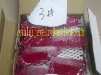 Production and wholesale synthetic Ruby material,3# color corundum material with high quality