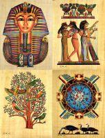 Handmade egyptian Papyrus Painting