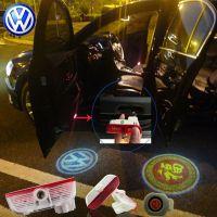2X Latest LED Car door laser projector ghost Logo Shadow light for Volkswagen