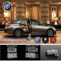 2X Latest LED Car door laser projector ghost Logo Shadow light for BUICK