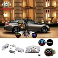 2X Latest LED Car door laser projector ghost Logo Shadow light for TOYOTA