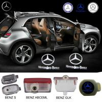 2X Latest LED Car door laser projector ghost Logo Shadow light for BENZ