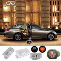 2X Latest LED Car door laser projector ghost Logo Shadow light for INFINITI