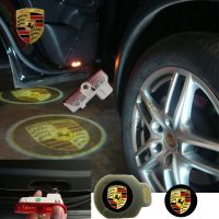 2X Latest LED Car door laser projector ghost Logo Shadow light for PORSCHE