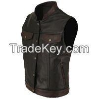 Motorbike Leather Vest