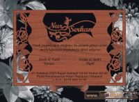 invitations wooden style
