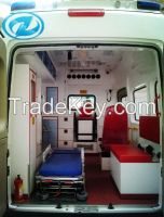 Transporting and nursing ambulance, with large room and brief design