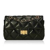 2013 High Quality PU Leather Imitation Sheepskin Shoulder and Aslant Handbag G6051