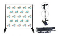 Telescopic Step & Repeat Banner Stand