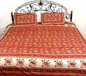 Sanganeri Print Bed Sheets