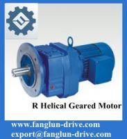 R series helical geared motor