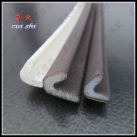Coated PU foam rubber seal strip