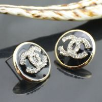 Promotion Price,Lovely gift White/Rose Red/Black Ear Studs Immitation Crystal Earring Classic Jewelry