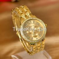 High Quality Gold Rose Gold Silver Watches Japan Quartz Movement