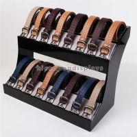 Indoor Promotional Desktop 2-Tier Acrylic Leather Belt Display Stand