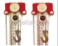 Non-Sparking Safety Manual Chain Hoist Block Trolleys By Copper Beryllium