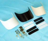 Cap plastic visor peak curved